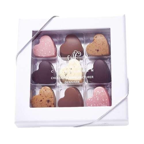 9 stk chokoladehjerter
